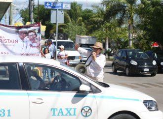 Laura Beristain gana votantes en las calles de Playa del Carmen