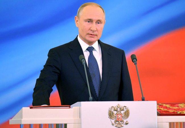 Putin promete paz y bienestar al asumir cuarto mandato presidencial