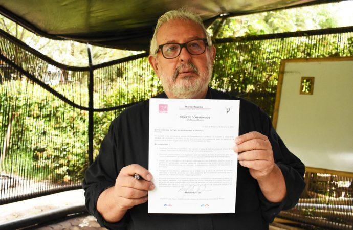 Firma Marco Rascón compromisos contra la explotación sexual