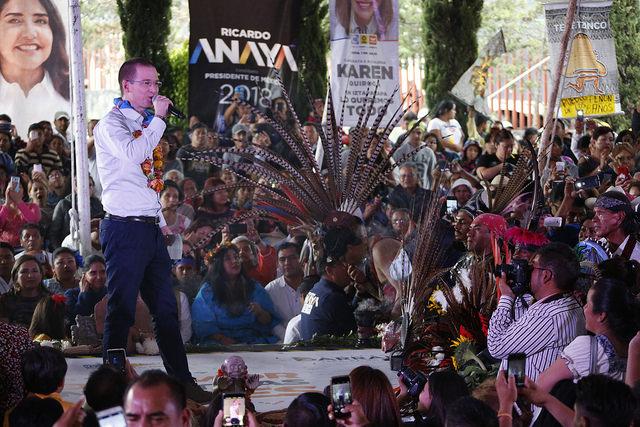 Los Pueblos Indígenas volverán a ser los primeros, afirma Ricardo Anaya en Iztapalapa
