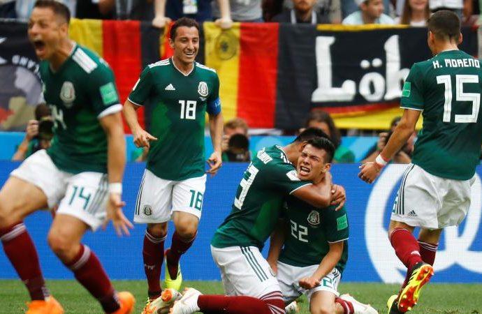 México abolla la corona de Alemania al vencerlo en su debut en el mundial Rusia 2018