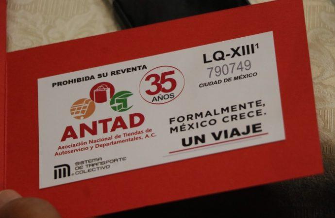 Presenta STC boleto conmemorativo del 35 aniversario de la ANTAD