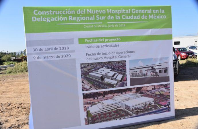 Inicia construcción de Hospital General de Tláhuac