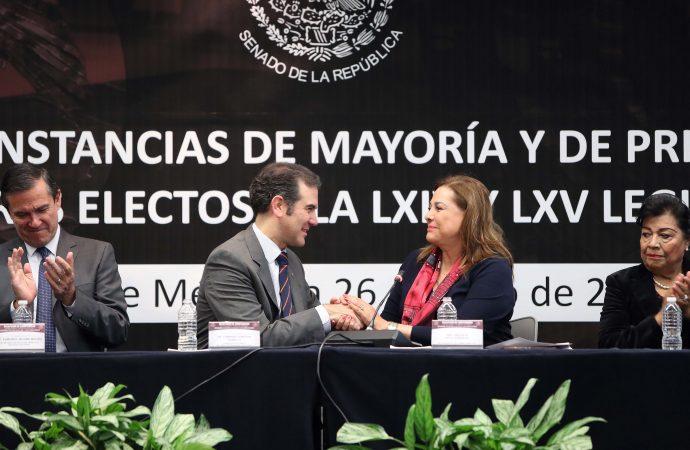 Senado recibe las constancias que acreditan a los senadores electos a las LXIV y LXV Legislaturas