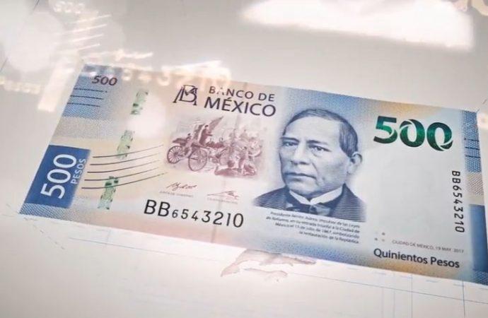 Benito Juárez es el rostro del nuevo billete de 500 pesos