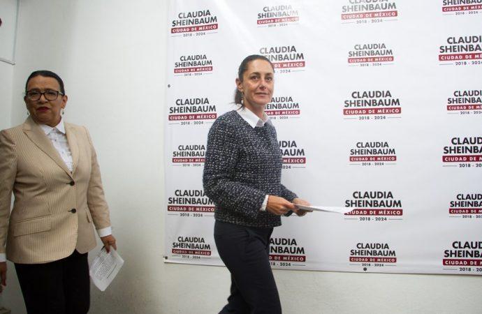 Va Claudia Sheinbaum por pacificación de la Ciudad de México