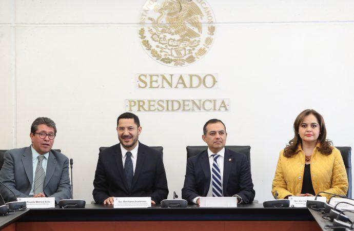 Se formalizó la entrega-recepción del Senado de la República