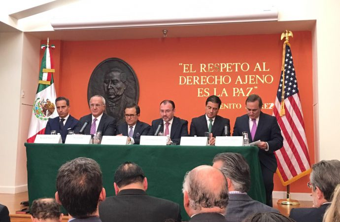 Acuerdo México-EUA elimina incertidumbre sobre TLCAN: Videgaray