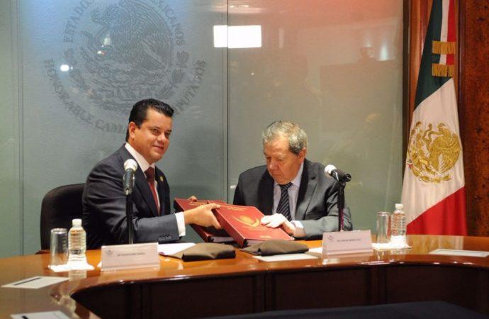 En acto institucional inédito, Porfirio Muñoz Ledo recibe Mesa Directiva de la Cámara de Diputados