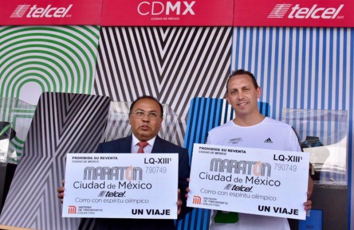 Presentan tarjeta de Metrobús y boleto del Metro en Expo Maratón CDMX Telcel 2018