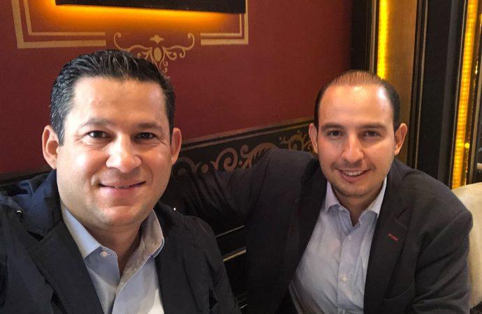 Gobernador electo de Guanajuato expresa su respaldo a Marko Cortés para dirigir Acción Nacional
