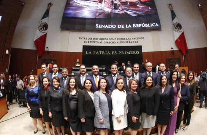Presentan senadores del PAN 10 acciones prioritarias por México, que impulsarán en el periodo ordinario