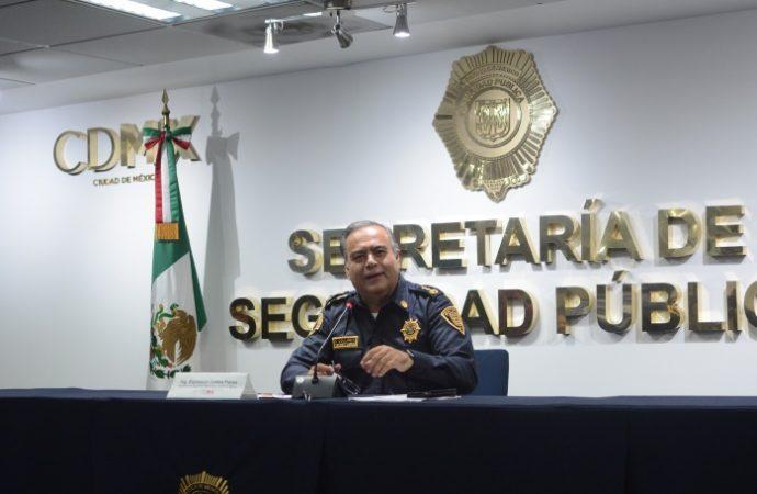 Trabaja SSP-CDMX en detener a presuntos responsables las veces que sea necesario