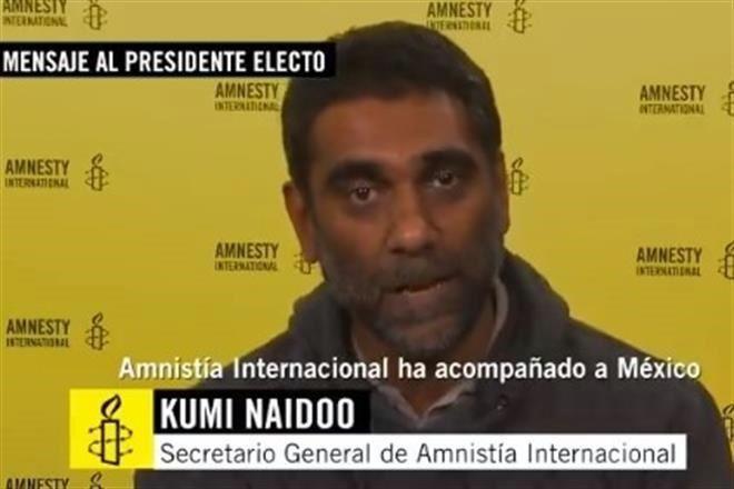 """AMLO ante una """"encrucijada"""": militarización o fuerza policial: Naidoo"""