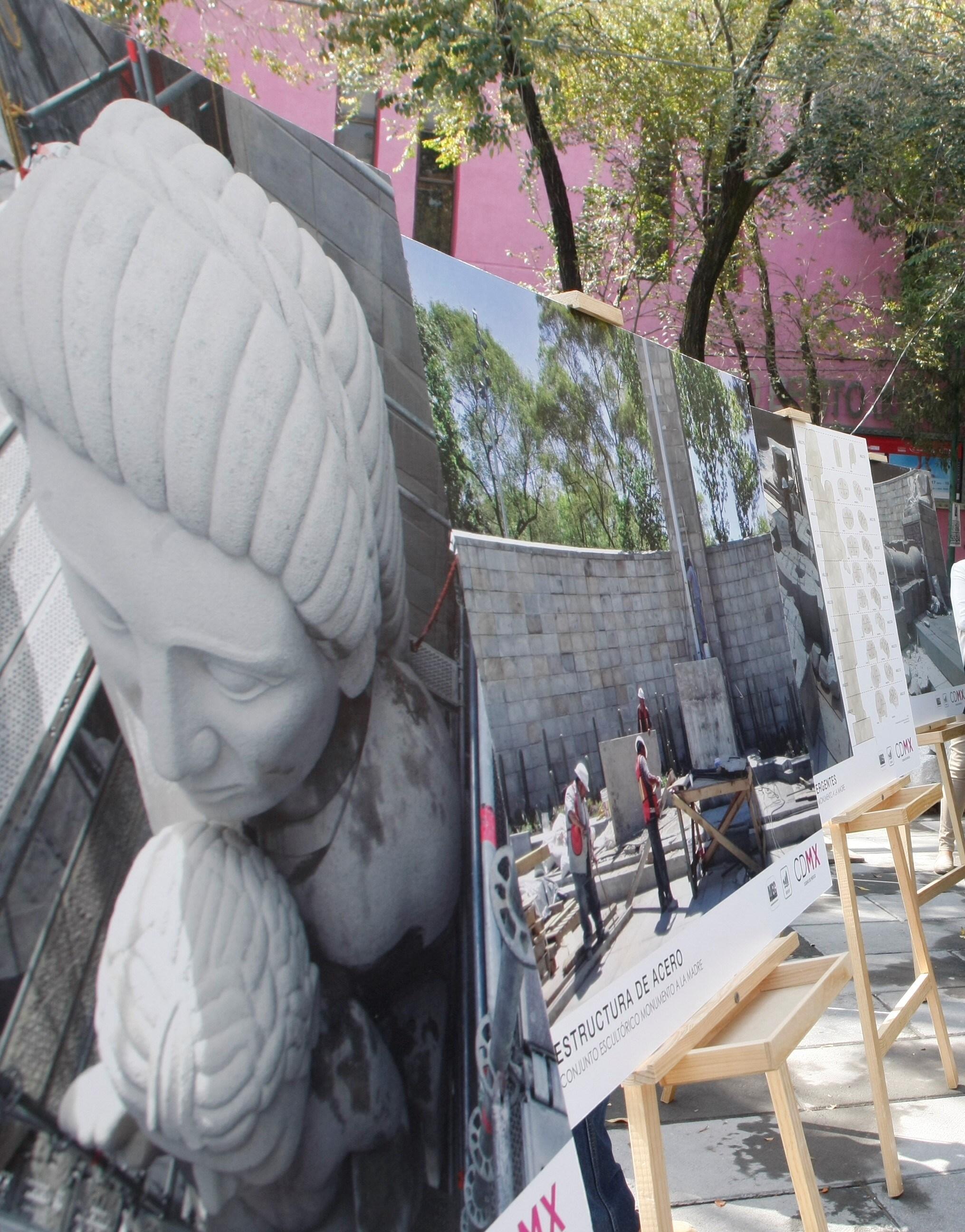 Entrega GCDMX restauración del Monumento a la Madre