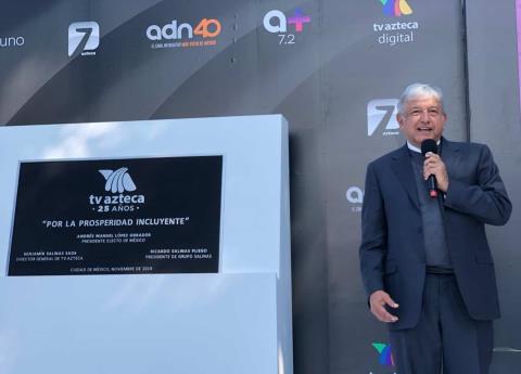 TV Azteca nunca se prestó a la guerra sucia en mi contra: AMLO