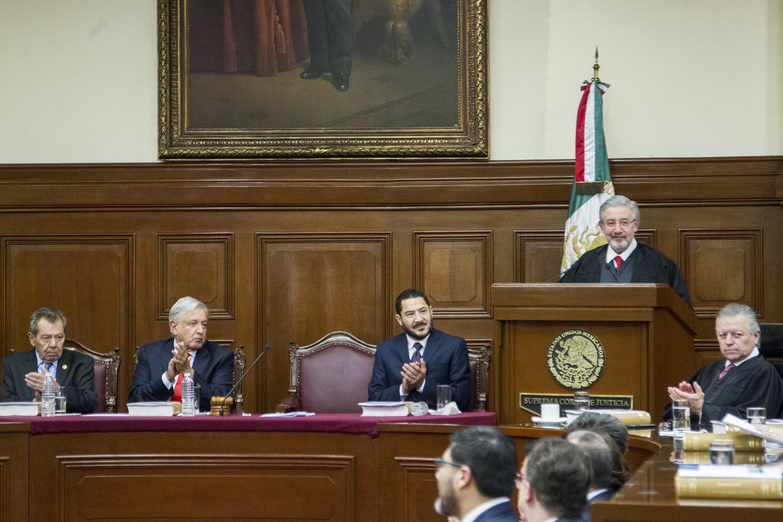 Presencia López Obrador informe de presidente de la Suprema Corte