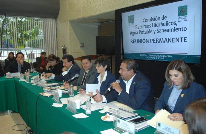 Comisión se reúne con titular de Conagua para emitir opiniones en torno a los recursos que recibirá el sector en 2019
