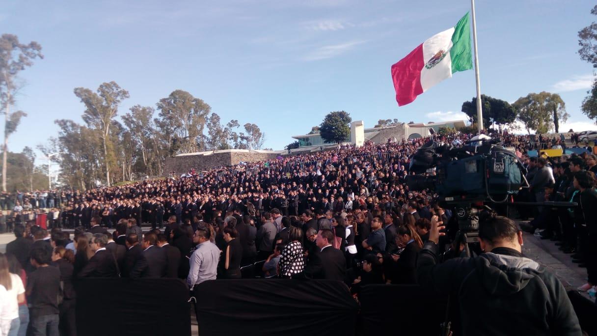 Realizan Ceremonia Luctuosa de Martha Erika Alonso y Rafael Moreno Valle