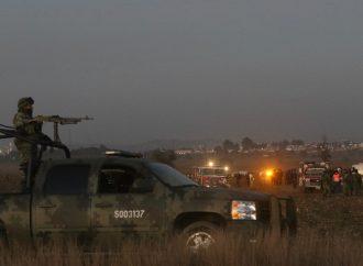Resguarda Ejército zona del accidente de Alonso y Moreno Valle