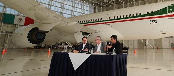 Avión presidencial sale de México este lunes para iniciar su venta