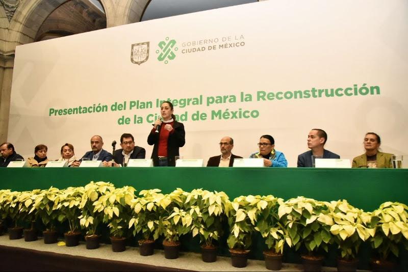 Listo, el Plan Integral de Reconstrucción CDMX