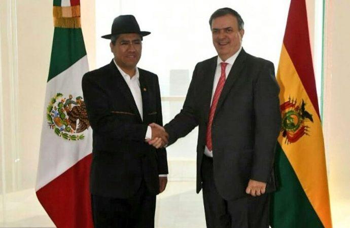 Marcelo Ebrard y ministro de Bolivia dialogan sobre relación bilateral