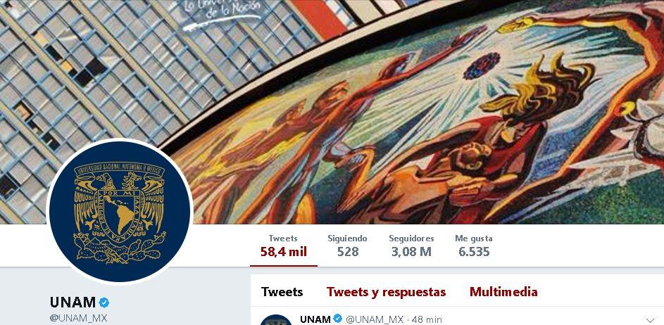 Reconocen a la UNAM como líder del mundo en Twitter