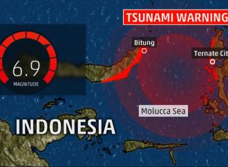 Alerta de tsunami tras sismo de 6.9 en Indonesia