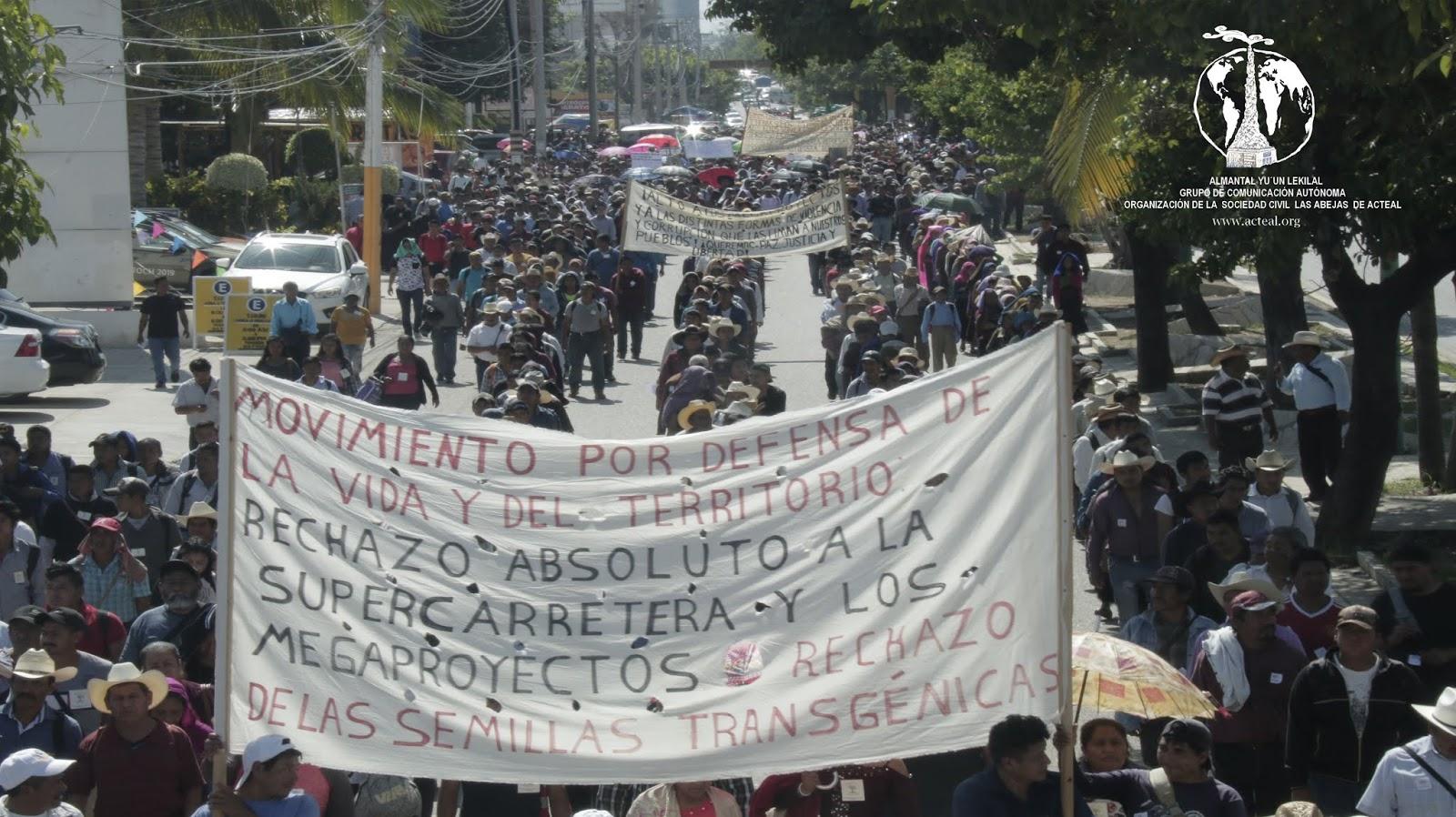 Indígenas manifiestan rechazo contra megaproyectos de Obrador