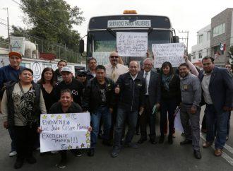 Por fin, vecinos del Pueblo del Peñón de los Baños cuentan con transporte RTP: Moreno Rivera