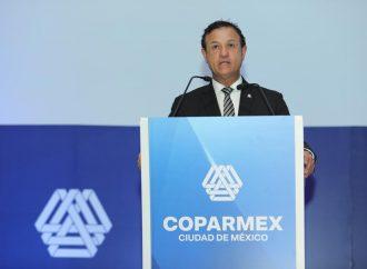 Refrenda COPARMEX compromiso empresarial pero solicita reglas claras, seguridad y paz social