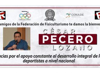 Cesar Pecero, apoya evento Mr. México 2020