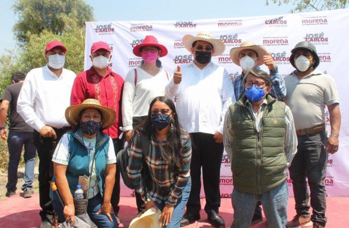 José Carlos Acosta arranca campaña en asentamientos irregulares