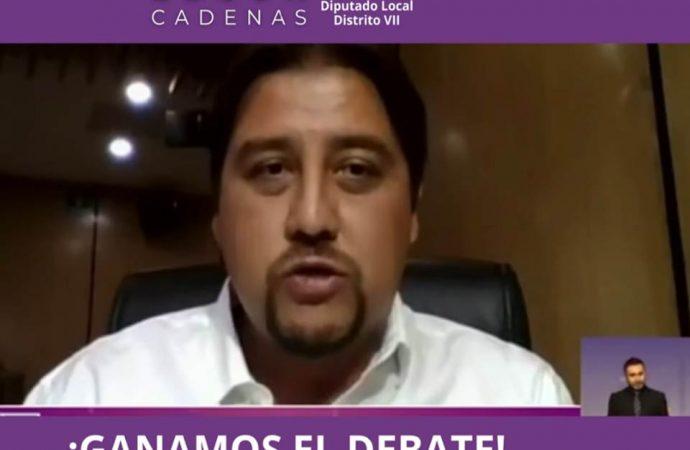 """Destaca Edson Cadenas en """"Debate Chilango"""" por sus propuestas"""