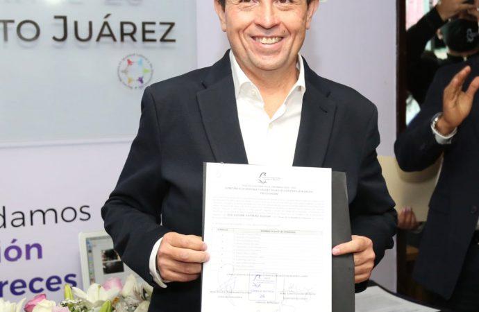 Entregan constancia de mayoría a Giovanni Gutiérrez, alcalde electo de Coyoacán