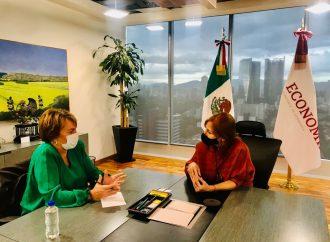 La Alcaldesa de Solidaridad, Quintana Roo, Laura Beristain, se reunió con la Secretaria de Economía federal, Tatiana Clouthier