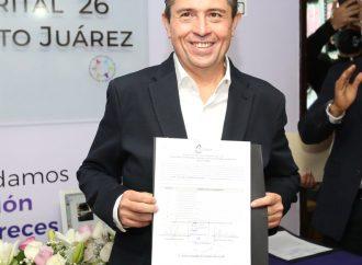 Giovani Gutiérrez recibe constancia como alcalde electo de Coyoacán
