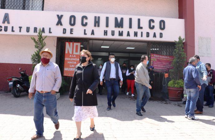 ALCALDÍA XOCHIMILCO PARTICIPA EN SIMULACRO