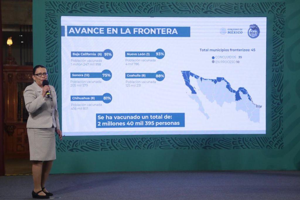 Rosa Icela Rodríguez garantiza vacunación de millenials y centennials este fin de semana