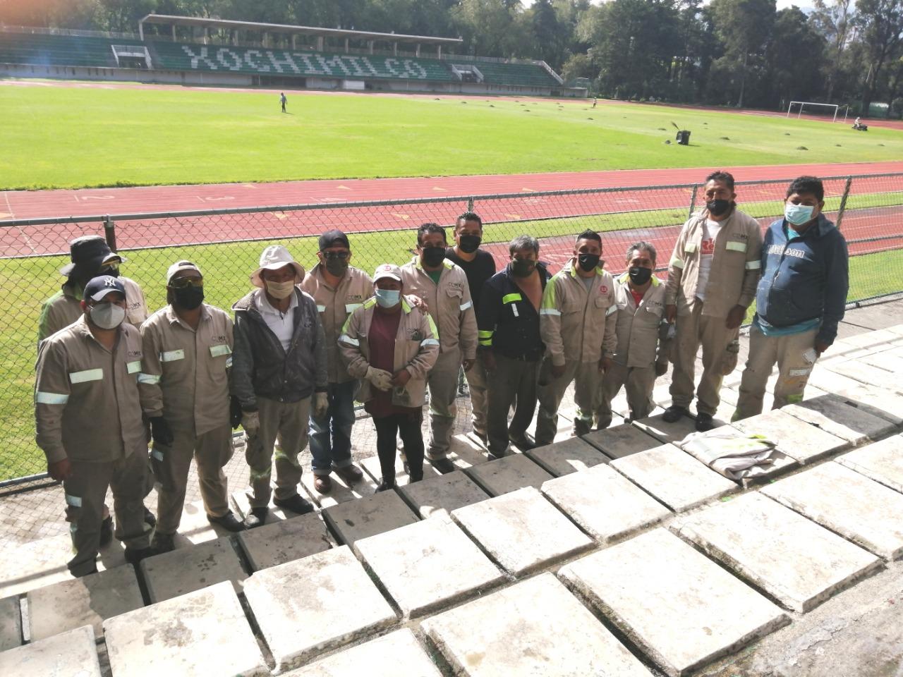 Mejoran imagen del Estadio de Xochimilco