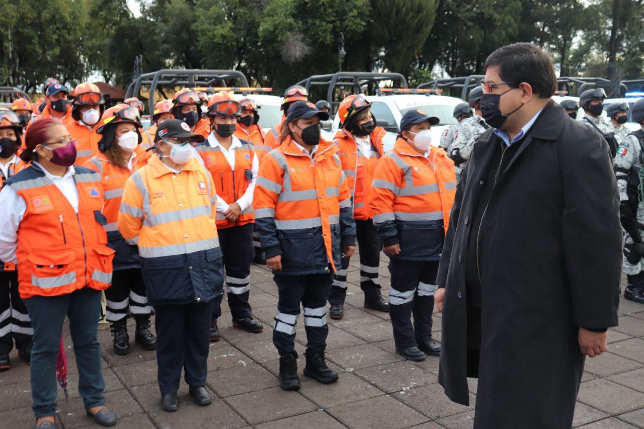 Equipa Xochimilco a cuerpos de emergencia en el marco de conmemoración por sismos